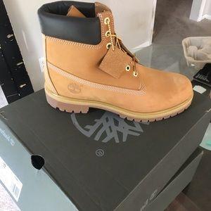 """Wheat Men's Timberland 6"""" Premium Waterproof Boots"""